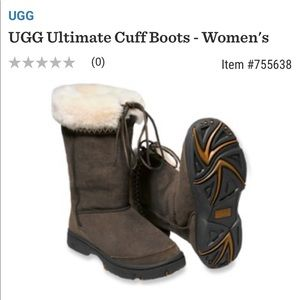 UGG Ultimate Cuff Boot 👢 in Chocolate, Size 7
